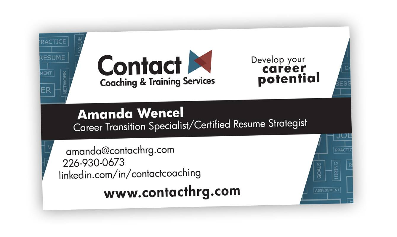 Contact HRG, Business Card Design