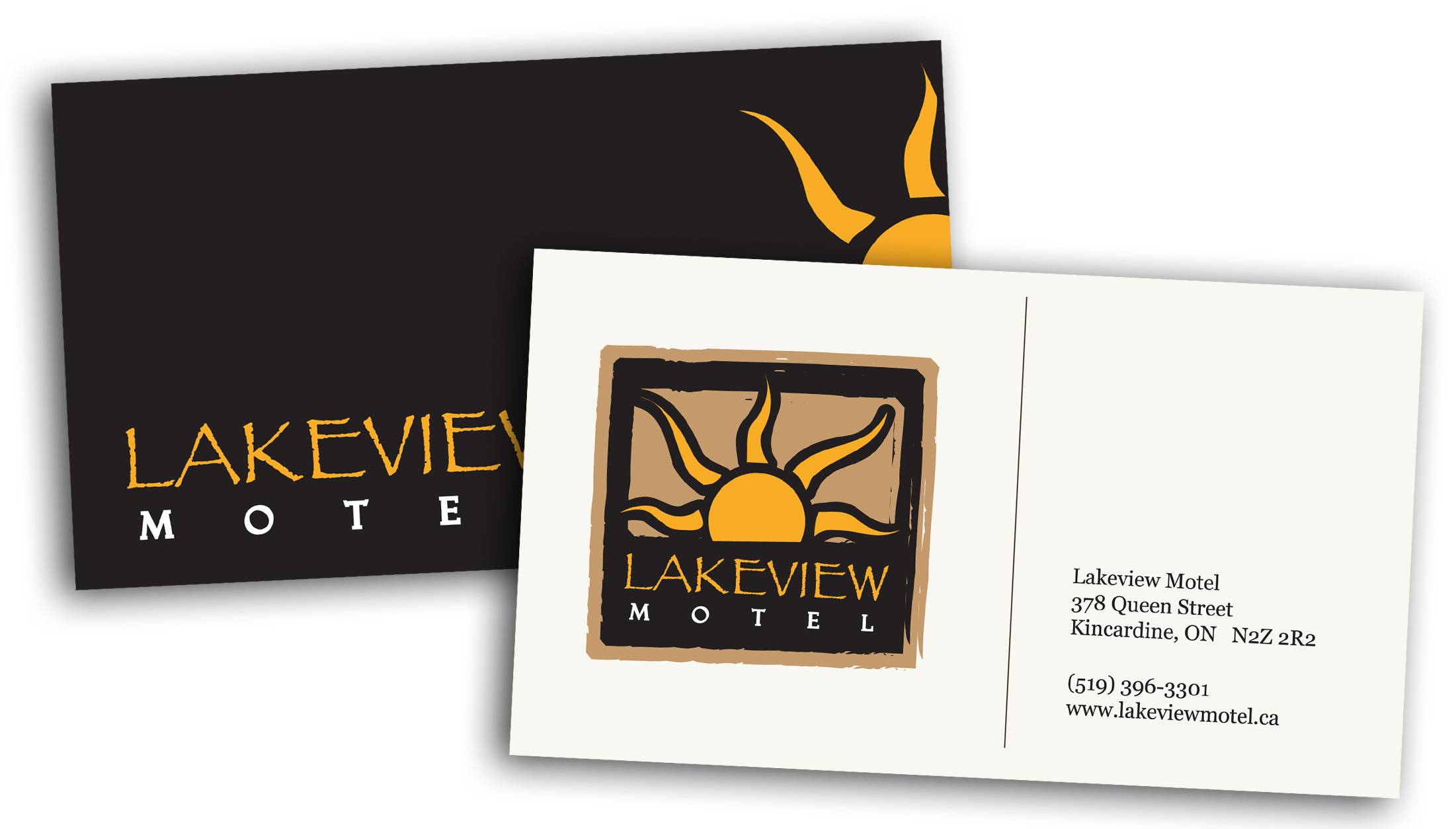 Lakeview Hotel, Business Card